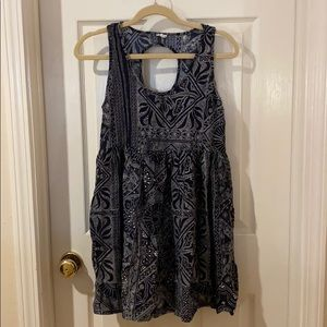 Navy and White Floral Mini Dress